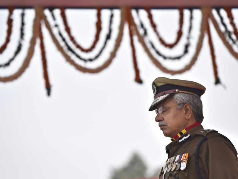 Bassi retired from the Delhi Police on Monday after a thirty-nine year long stint with the force. (Arun Sharma/HT Photo)