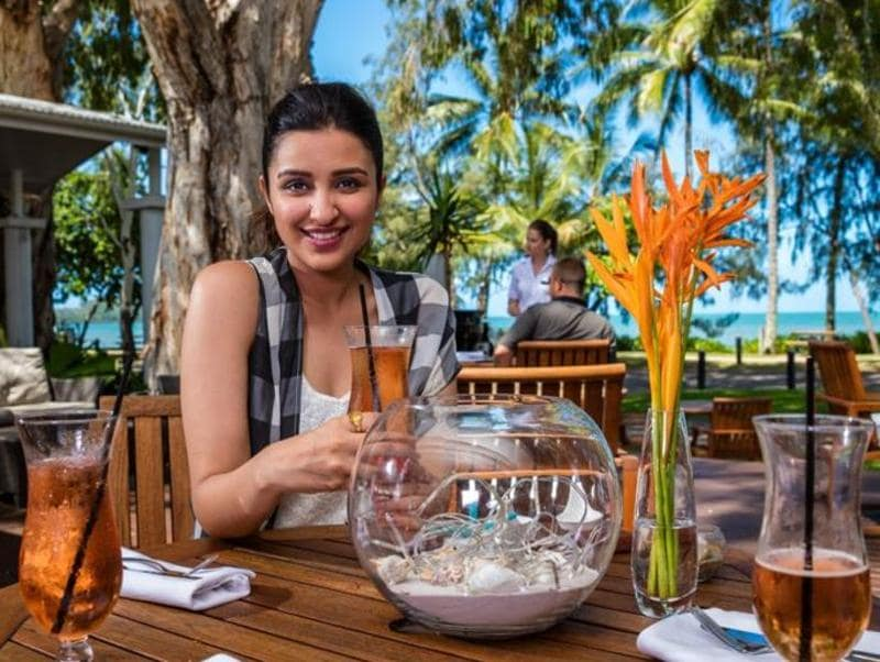 Parineeti also visited the Palm Cove beach. (Twitter)