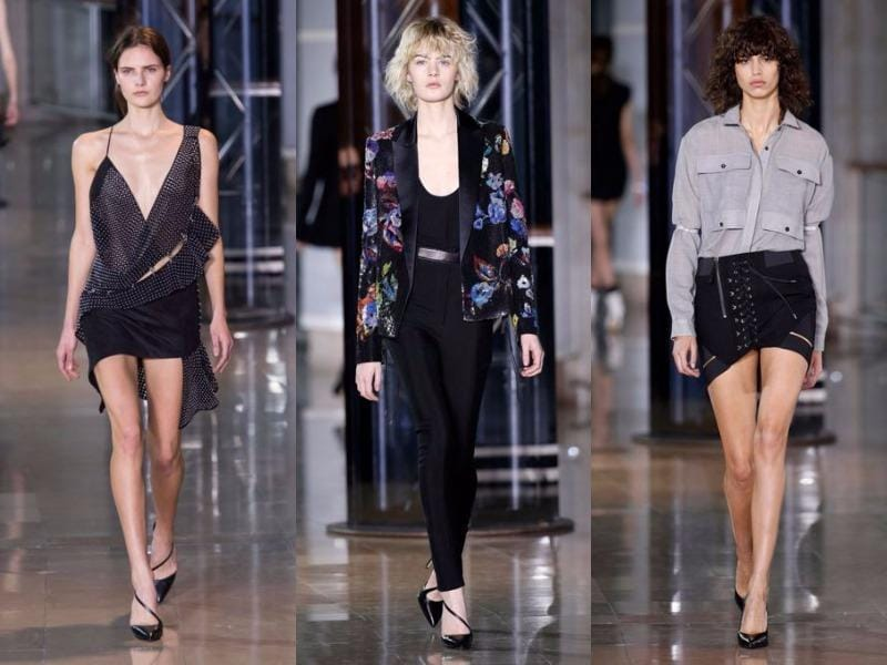 Anthony Vaccarello: With see-through pieces, leather, lace-up detail, fishnet fabric, plunging necklines and short skirts, Anthony Vaccarello brought an overtly sensual and sexy feel to his collection. (March 1, 2016). (Agencies)