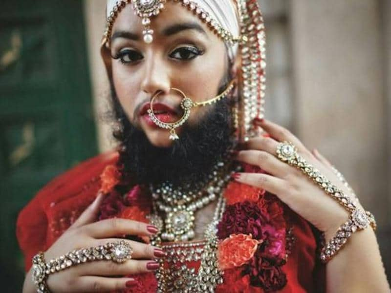 When she was 11, Kaur was diagnosed with polycystic ovary syndrome, a hormonal condition that makes you have excessive facial hair, so much so that she had to get them removed twice a week. (Instagram)