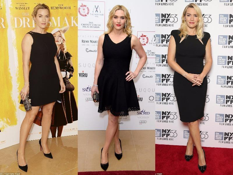 Kate Winslet: She is looking great in these LBDs. These can be perfect for those who want to add volume at the bottom half of their body.