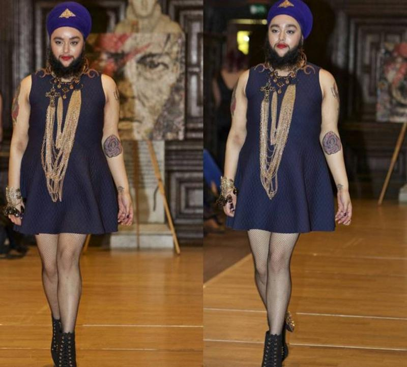 Kaur walked the ramp last week for American jewellery designer Marianna Harutunian at the Royal Fashion Day in London, realising her most cherished childhood dream, that of becoming a model. (Instagram)