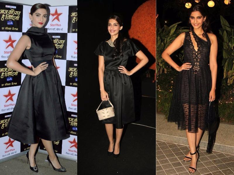 Sonam Kapoor: She has emerged as a style icon for us girls in a very short span of time. She has amazing sense of style which she again proves with her little black dress celebrity style.