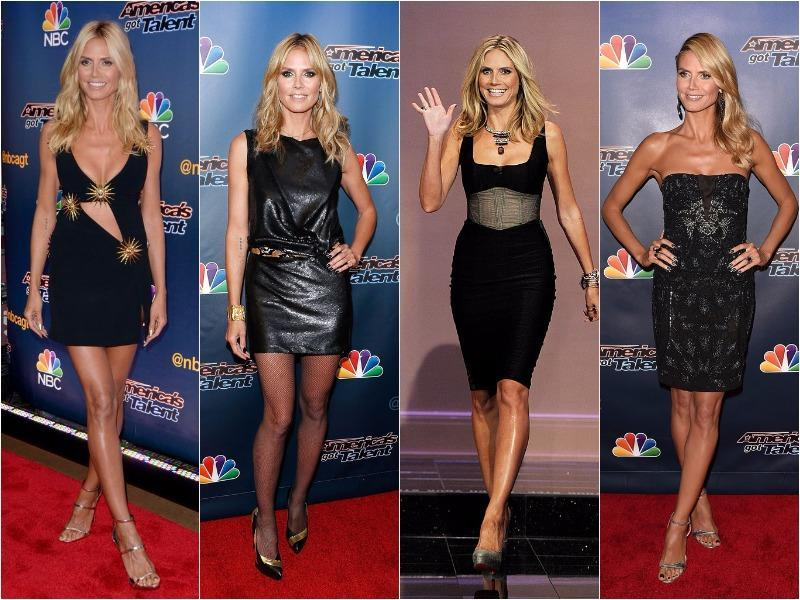 Heidi Klum: Her LBDs look great on her amazing figure. Being a supermodel she can pull off any length of dress without looking obscene. We love how her dresses can be see-through or shining, but still look super elegant.