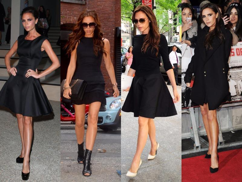 Victoria Beckham: She is one of the greatest fashionistas of the present time. She has proved it again and again and again with her LBDs. This former Spice Girls star can make anything look hot. Her LBDs, although very simple, look great on her.