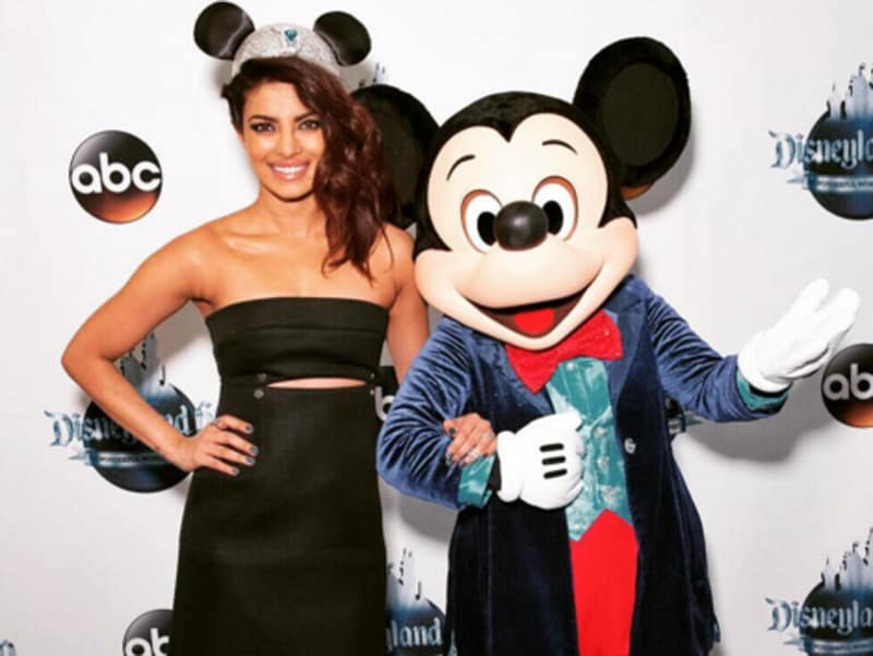 Hell, Priyanka is giving a complex to the world's most famous mouse.