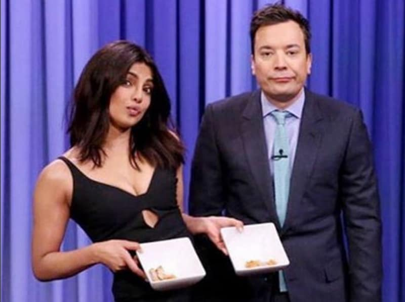 Priyanka Chopra also proved that nobody can beat Indians when it came to eating chilli-infused food. Jimmy Fallon don't even...