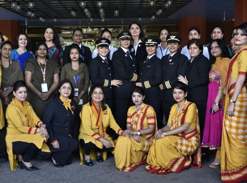 With International Women's Day round the corner, Air India is all set to make history by launching the flight AI 173. The Delhi-San Francisco non-stop flight will set a world record for being the longest all-women operated and supported flight. (Vipin Kumar / HT Photo)