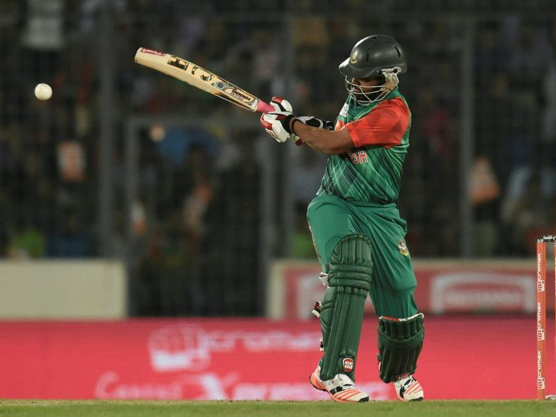 Bangladesh cricketer Tamim Iqbal plays a shot. (AFP Photo)