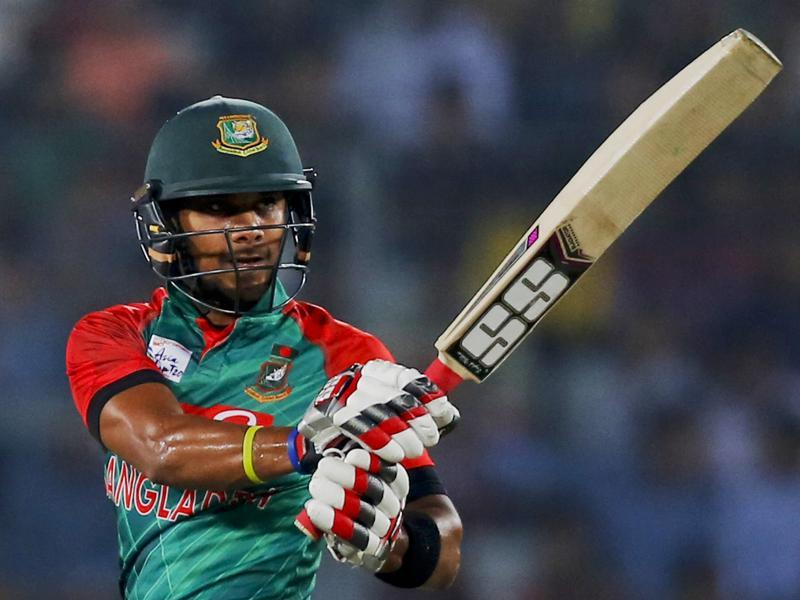 Bangladesh's Sabbir Rahman plays a shot. (AP Photo)