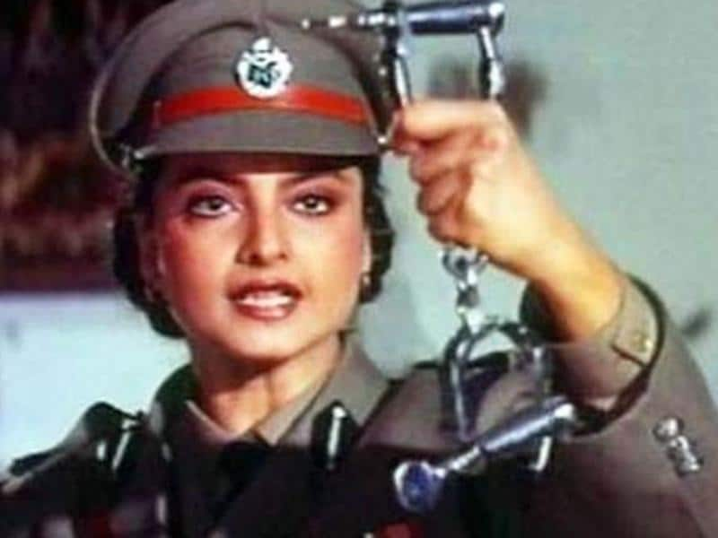 Rekha plays a cop in Phool Baney Angaarey.