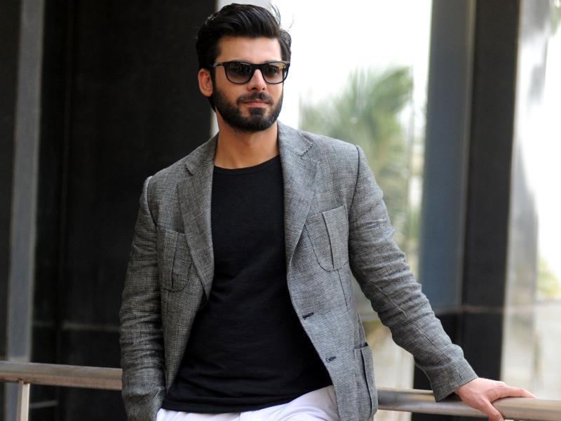 Pakistani actor Fawad Khan who plays Rahul Kapoor poses during a promotional event for the upcoming Hindi film Kapoor & Sons. (AFP)