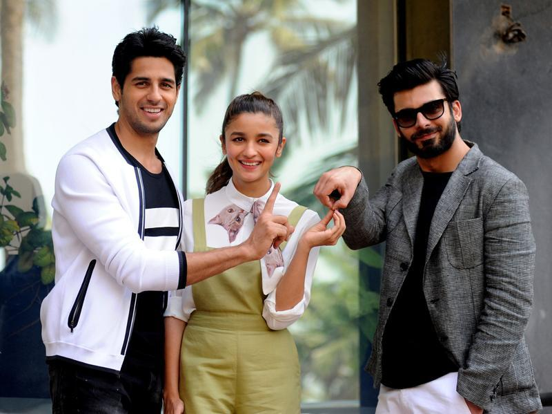 Rahul (Fawad Khan) and Arjun (Sidharth Malhotra) both fall in love with the same girl (Alia Bhatt), which is where the problem starts. (AFP)