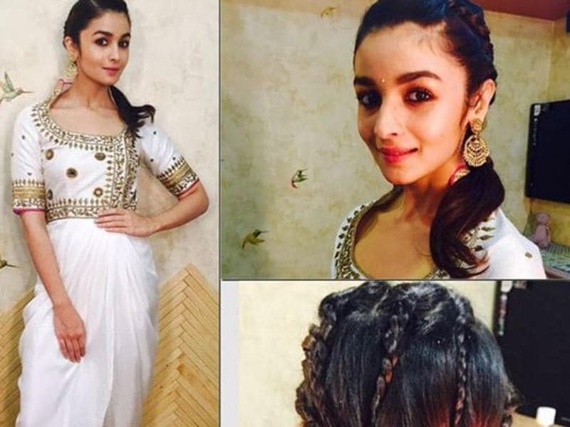 Ali's 'dhoti' look gets an extra fillip thanks to her quirky 'multiple' braids. (Aliaabhatt/Instagram)
