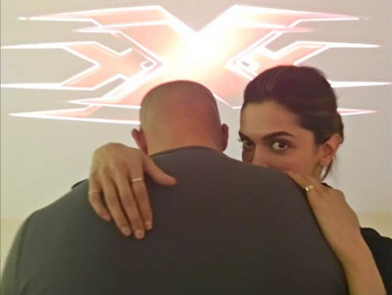 When not meeting sporting stars, Deepika keeps august company in Hollywood too. This picture of hers with Vin Diesel went viral. (Twitter)