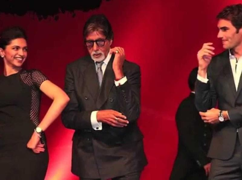 The actress also taught Federer a few dance moves along with Amitabh Bachchan at an event after the exhibition match. (twitter)