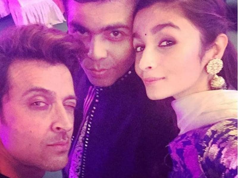 And she's a poser! Alia clicks the best selfies and Karan Johar is a legit fan. Just check-out Alia's Instagram, people.  (Instagram)