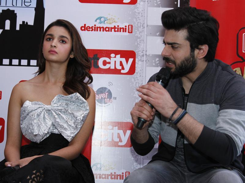 Fawad Khan answering a question with all his intensity. (Photo: Waseem Gashroo/Hindustan Times)