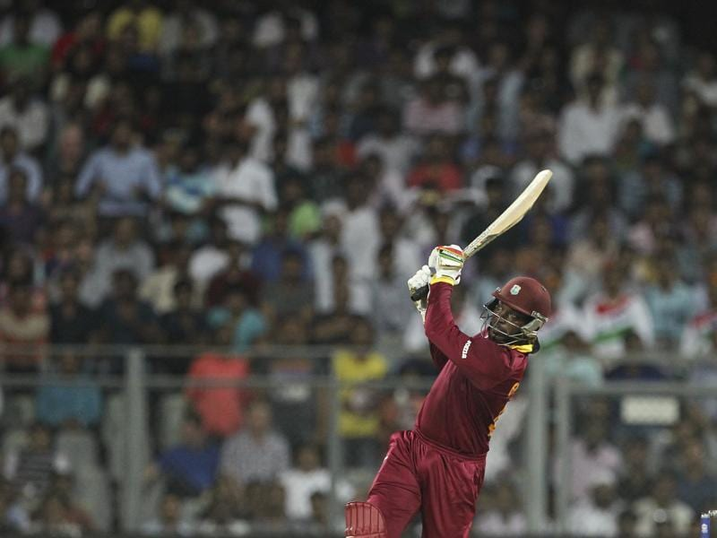Gayle hit 11 sixes and five fours in his 47-ball 100. (AP Photo)