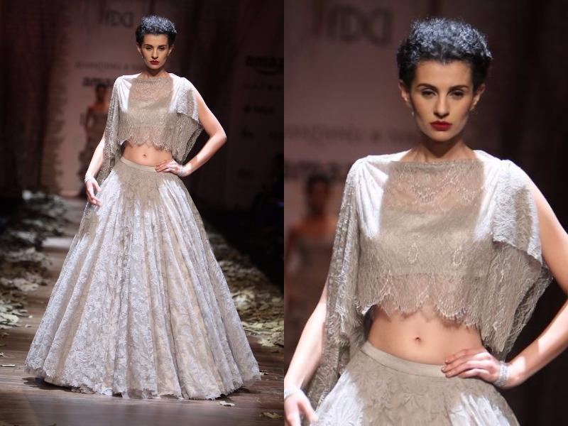Romance ruled the runway with voluminous skirts at Shantanu-Nikhil. (Raajessh Kashyap/HT Photo)