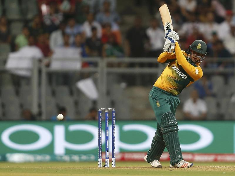 South Africa's Quinton de Kock plays a shot. (REUTERS)