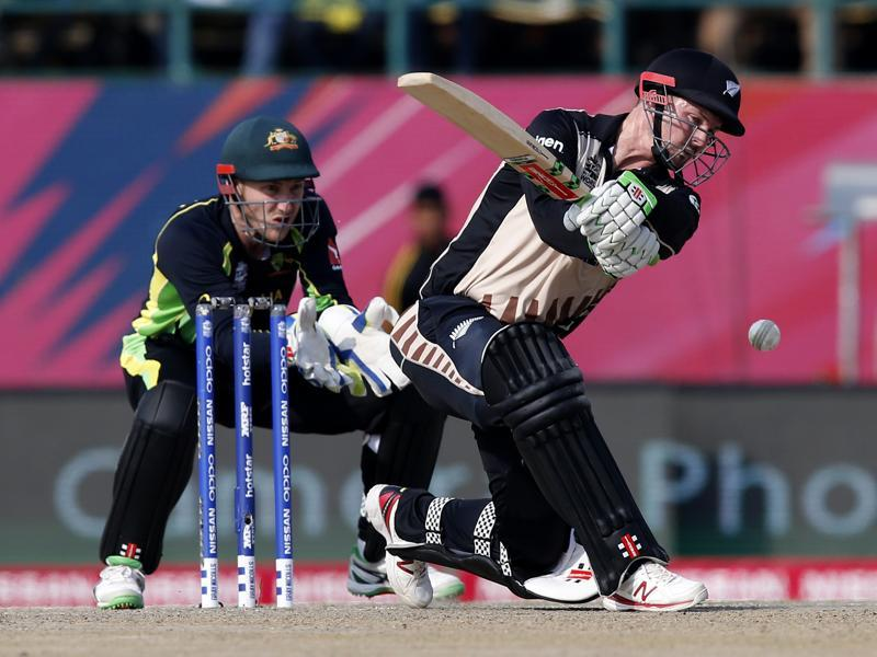 New Zealand's Colin Munro bats during their ICC World Twenty20 2016 cricket match. (AP Photo)