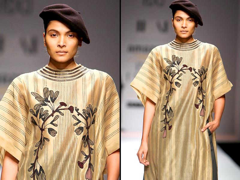 Parisian vibes were strong at Ikai's display, thanks to the berets of course.  (Raajeesh Kashyap/Hindustan Times)