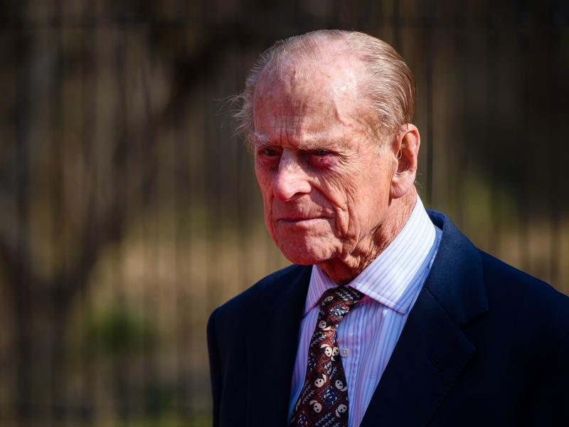 Britain's Prince Philp, Duke of Edinburgh, is pictured as he attends the official opening of 'The Land Of The Lions' exhibit at London Zoo. (AFP Photo)
