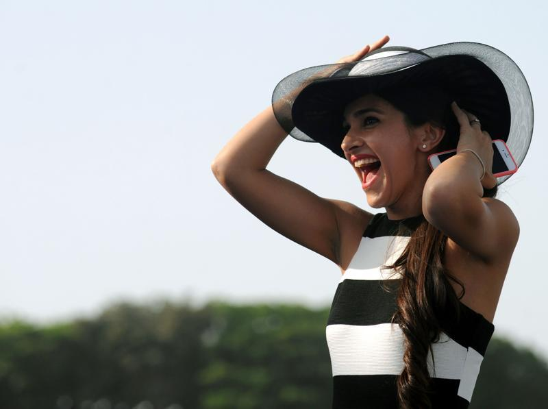 Actor Tara Sharma poses as she attends a 'Polo Cup' event in Mumbai. (AFP)