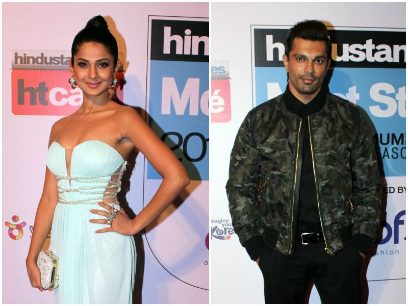 TV actor Jennifer Winget was at the event and so was her ex-husband Karan Singh Grover. (shakti Yadav/ Hindustan Times)