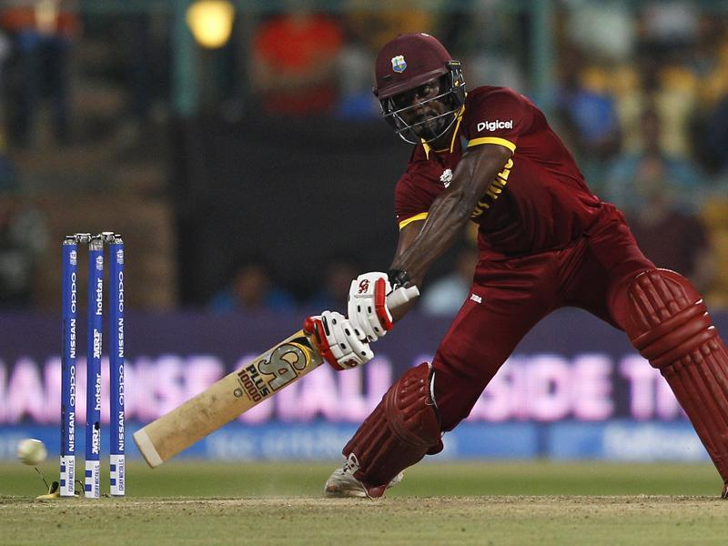 West Indies' Andre Fletcher plays a shot during their ICC World Twenty20 2016 cricket match against Sri Lanka in Bangalore. (AP Photo)