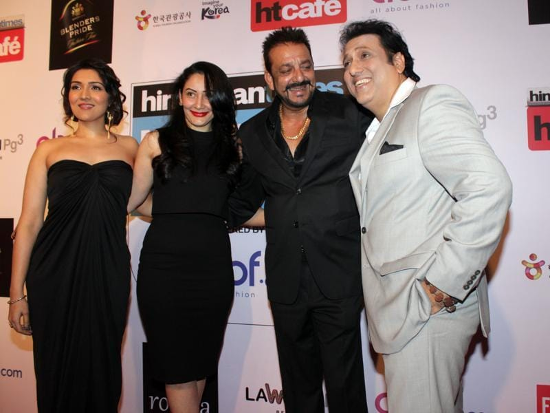We're not crying you are crying! Sanjay Dutt and Govida had a mini Haseena Maan Jaegi reunion at the red carpet. :') (Shakti Yadav/ Hindustan Times)
