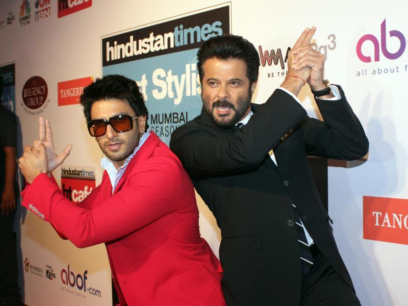 Ranveer Singh and Anil Kapoor were out of anyone's control at the Hindustan Times Most Stylish Awards 2016 on Sunday. (Shakti Yadav/ Hindustan Times)