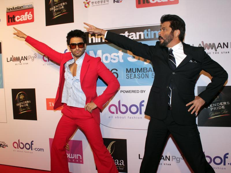 They broke into a jig at the red carpet and had quite a bit of fun. (Shakti Yadav/ Hindustan Times)