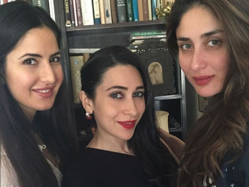 Karisma and Kareena with Katrina Kaif. This picture was before Ranbir and Katrina went their separate ways.
