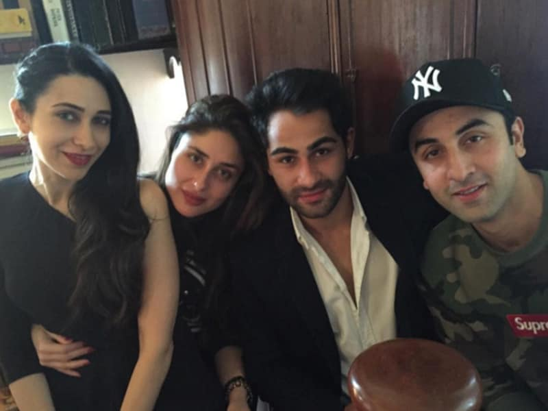 Here the sisters are with cousins Armaan Jain and Ranbir Kapoor. What did we tell you about #sistergoals?