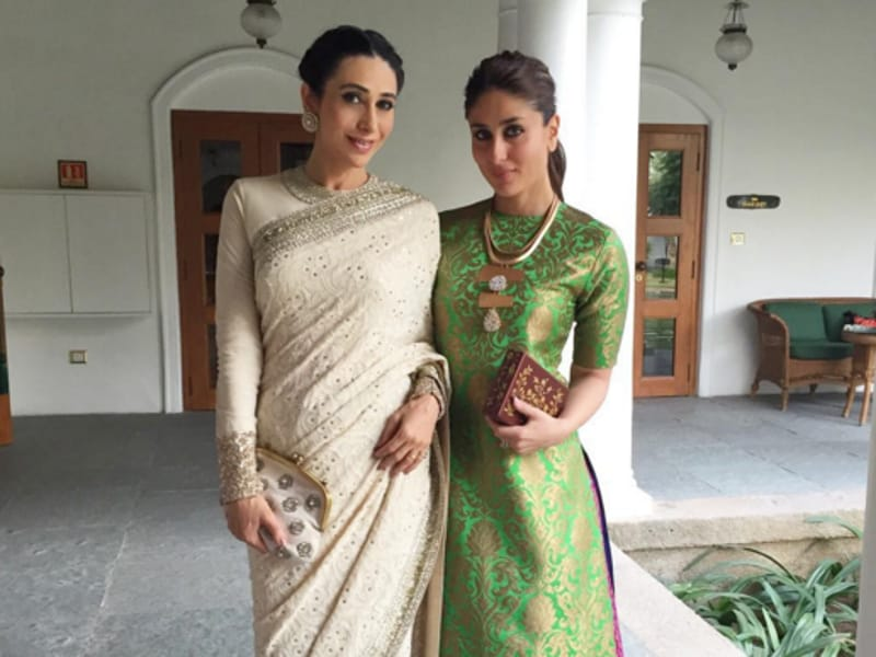 Karisma and Kareena look every bit the Bollywood diva they are.