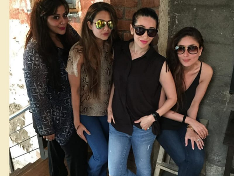 Karisma and Kareena chill with friends.