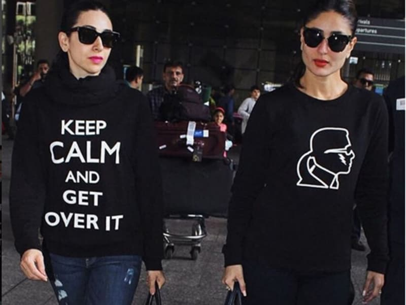 Is it just us or are Karisma and Kareena twinning? These two sisters are just too adorable and their Instagram pictures are a proof.
