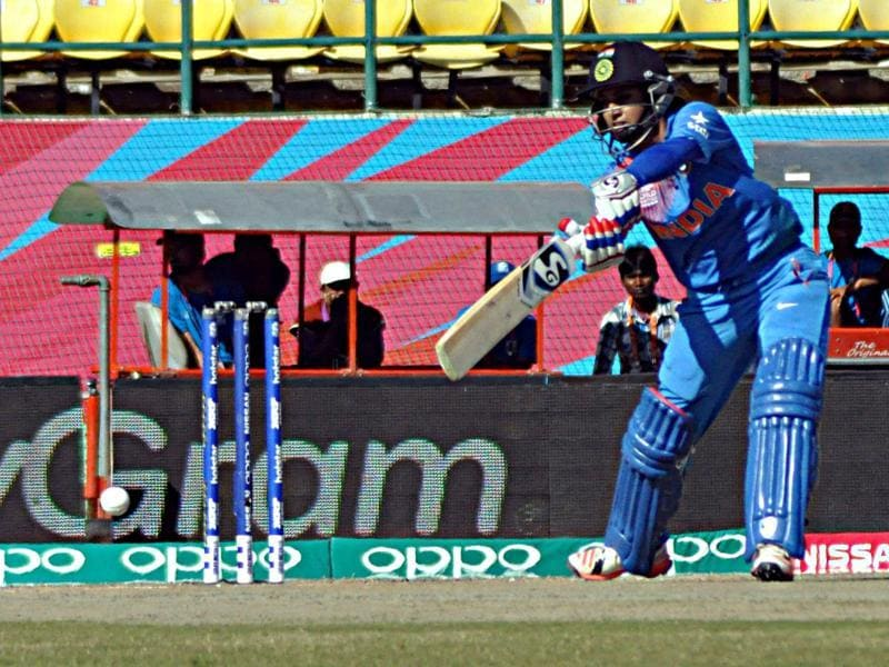 India managed just 90 off their 20 overs. (Shyam Sharma/HT Photo)