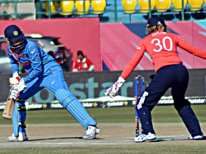 Like in the previous encounter, India's low total cost them in the end. (Shyam Sharma/HT Photo)
