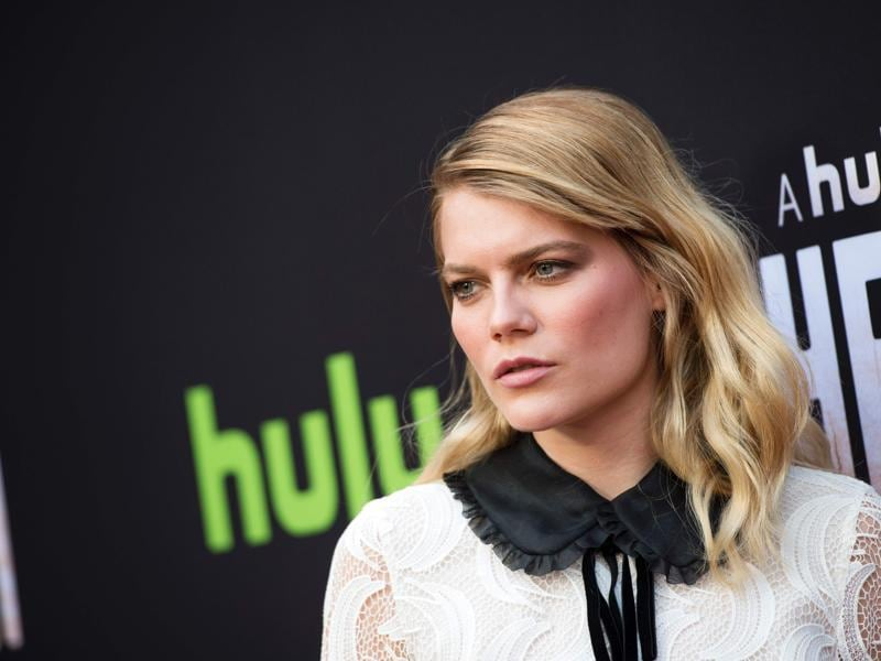 Emma Greenwell poses for photographers at the premiere of Hulu Original The Path, in Hollywood, California. (AFP)