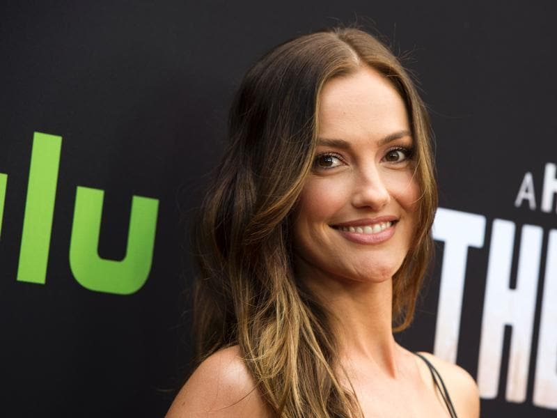 Minka Kelly attends the premiere of The Path, a new drama starring Aaron Paul that will air on Hulu. (AFP)