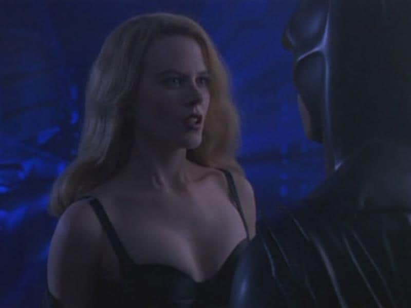 And who can forget Nicole Kidman's purring performance as the eternal damsel in distress Dr Chase Meridian? Say what you will, but she did manage to control Bruce like no other.