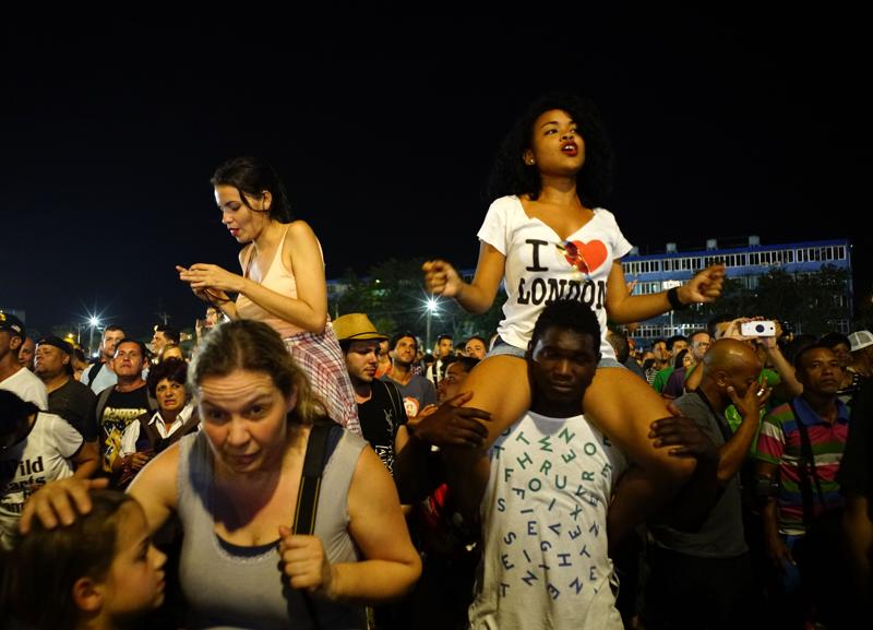 People dance at the Rolling Stones concert in Havana, Cuba. (AP Photo)