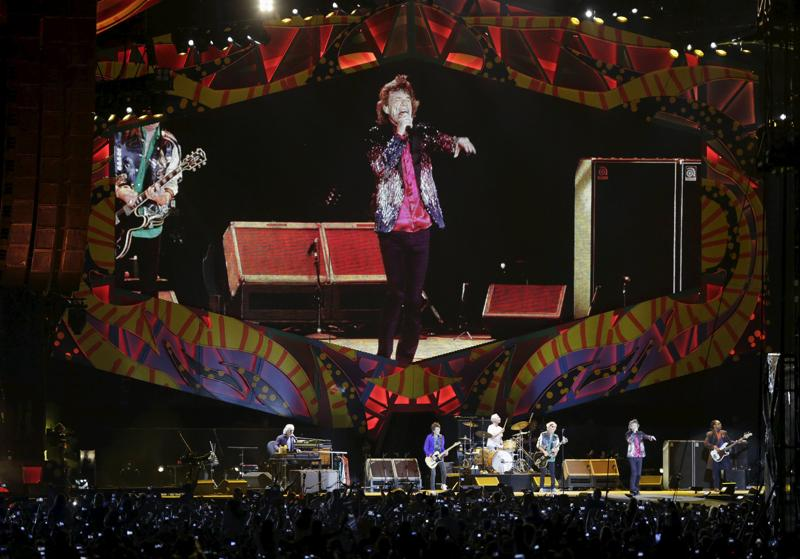 Mick Jagger spoke to the crowd in Spanish during the concert, remarking that the times had changed and a different Cuba was now present. (REUTERS)