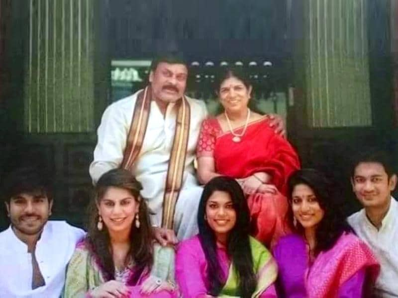 For the family album: Chiranjeevi poses with his family. (MEGASTARCHIRANJEEVI/Facebook)