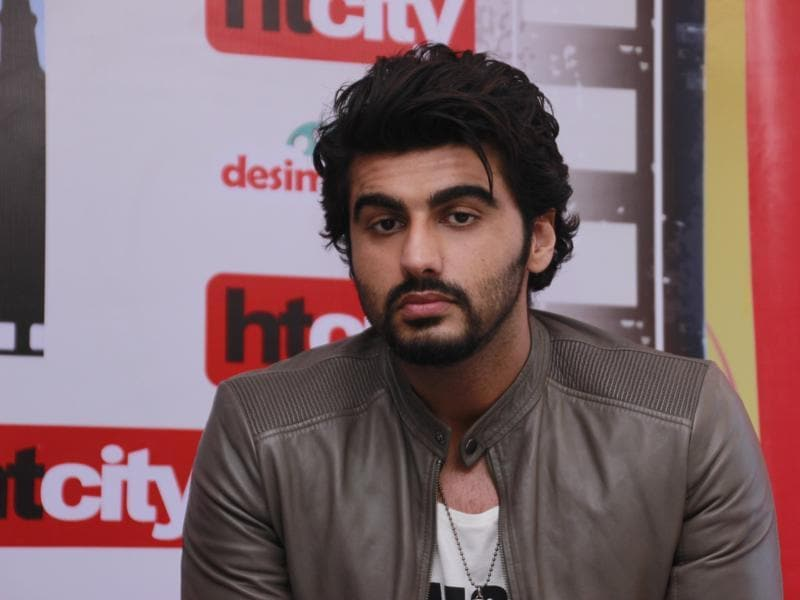 """If everyone will go to Hollywood, who will I work with?"" asks Arjun Kapoor. (Shivam Saxena/HT PHotos)"