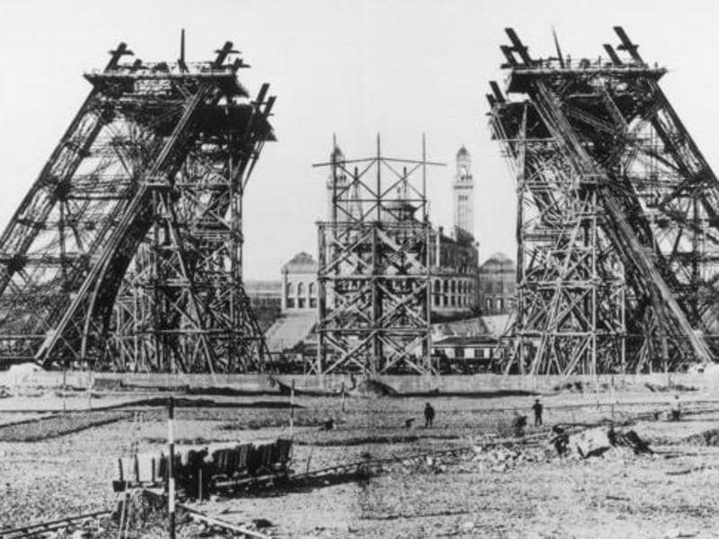 "To mark the 100th anniversary of the French Revolution in 1889, a competition was announced to ""study the possibility of erecting an iron tower on the Champ-de-Mars with a square base, 125 metres across and 300 metres tall"". Among 107 projects, that of Gustave Eiffel, an entrepreneur, engineers Maurice Koechlin and Emile Nouguier, and architect Stephen Sauvestre was accepted.  (Twitter)"