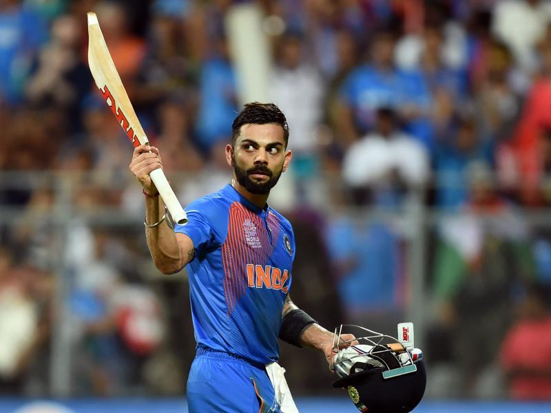 India's Virat Kohli waves to crowd after his innings during ICC Twenty20 2016 Cricket World Cup. (Kunal Patil/HT Photo)